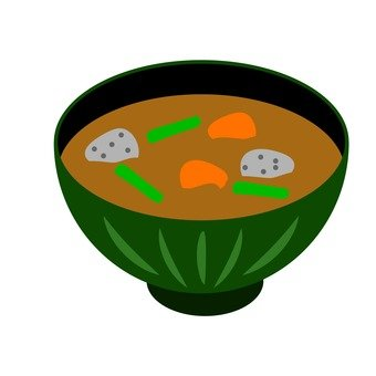 Miso soup with root vegetables