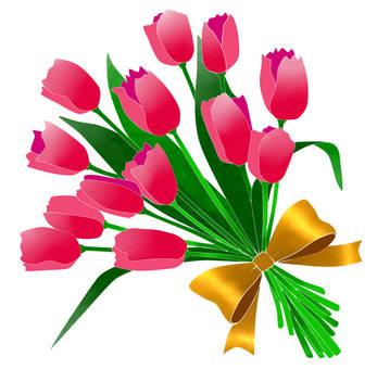 Tulip bouquet Pink 2