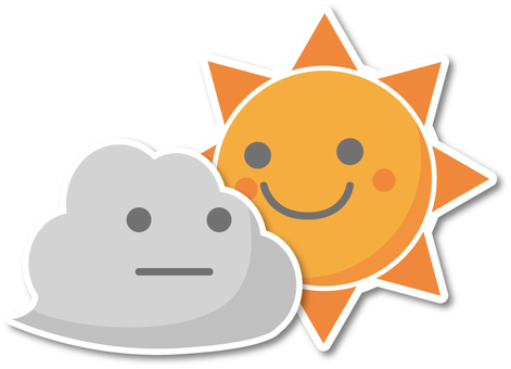 Cloudy then sunny