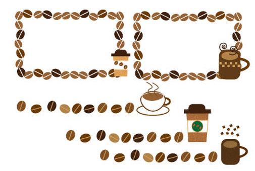 Coffee frame and line