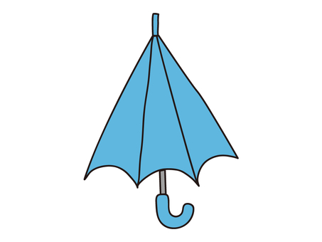 Loose light blue umbrella illustration