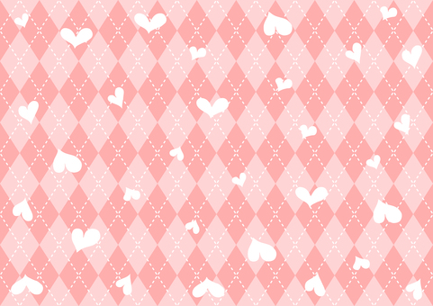 Heart argyle background
