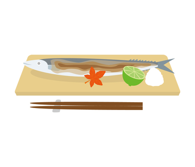 Grilled fish saury
