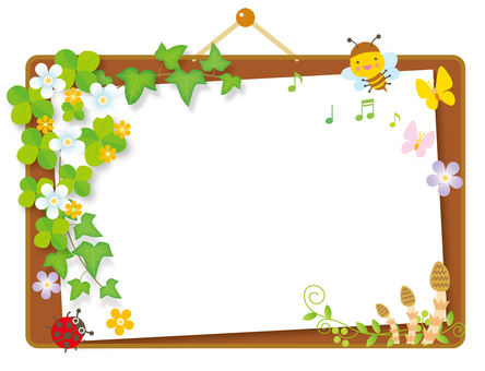 Bulletin board of spring breath Cork board style