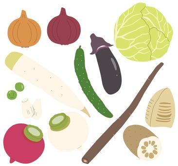 Vegetables (pale vegetables) 1/3 * Borderless