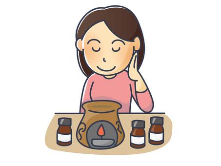 Illustration of aromatherapy women