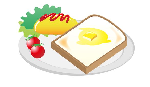 Western-style breakfast