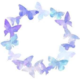 수채화 나비 프레임