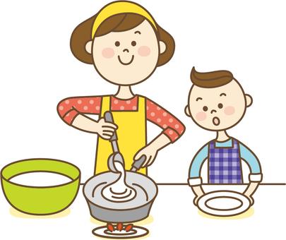 부모와 자식 요리