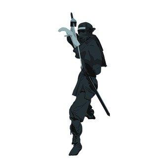 A black ninja holding a sword (2)