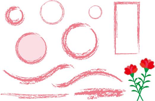 Carnation and pink frame