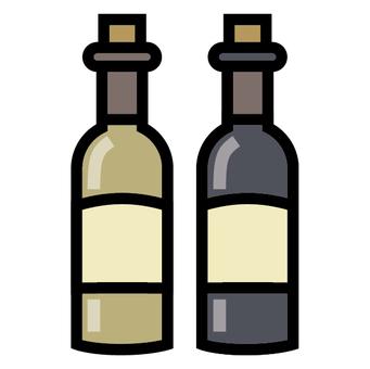 Wine bottle icon red white liquor