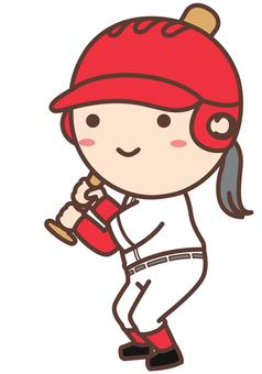 打棒球的女孩