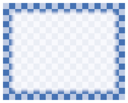 Check frame - blue