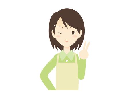 Woman of H008 _ apron