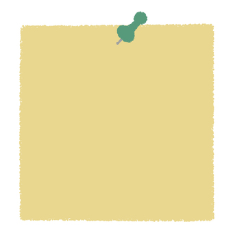 Push pin and memo paper _ green