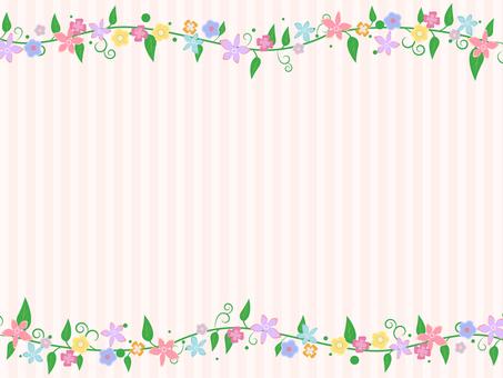 Flower decoration frame 6