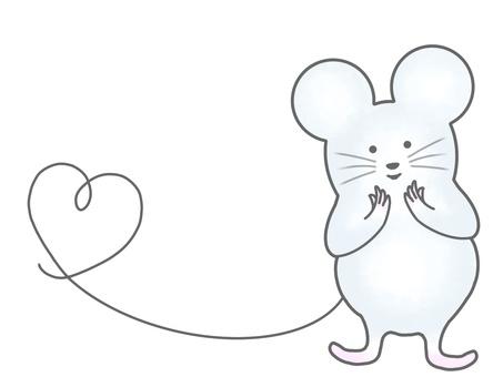 쥐 _01_ 꼬리 하트