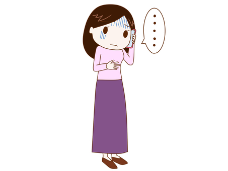 A woman who speaks pale on a smartphone