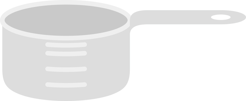 Cookware measuring cup