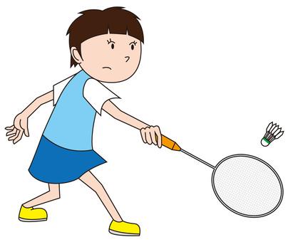 Badminton girl 2