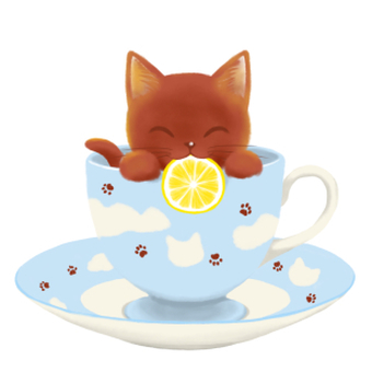 Lemon tea cat