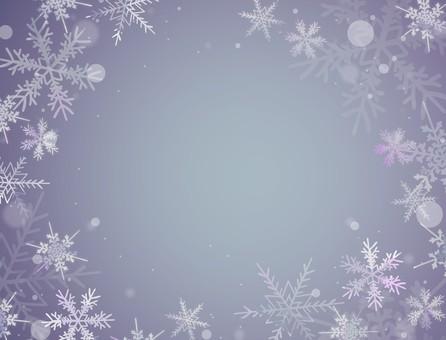 Snow crystal (blue)