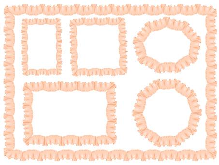 Pink beige frill frame (revised)
