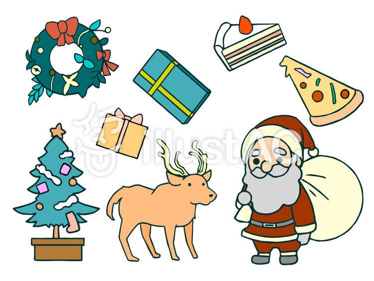 季節ものイラストセット01 クリスマスのイラスト