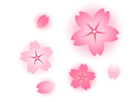 Sakura parts (with blur)