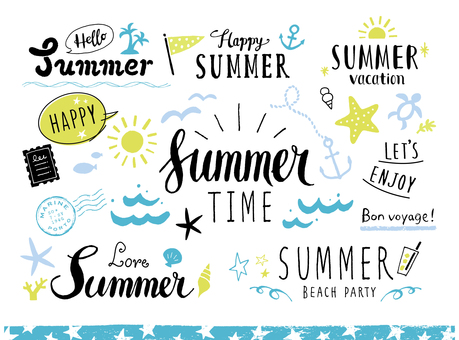Summer lettering and various