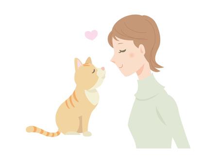 Female and cat _ 02