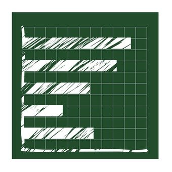 칠판의 가로 막 대형 차트 1