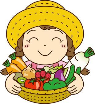 Vegetable girl 1