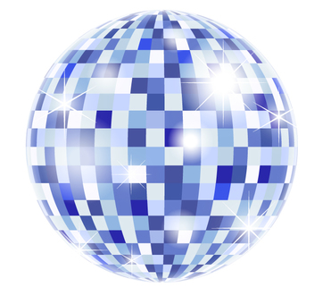 Mirror ball _ blue