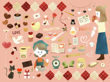 Valentine - making sweets