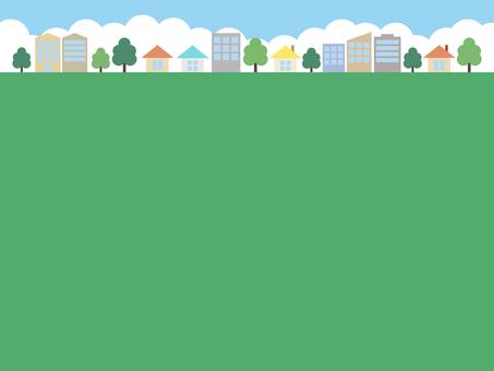 도시 거리 하늘 배경 색상 (짙은 녹색)