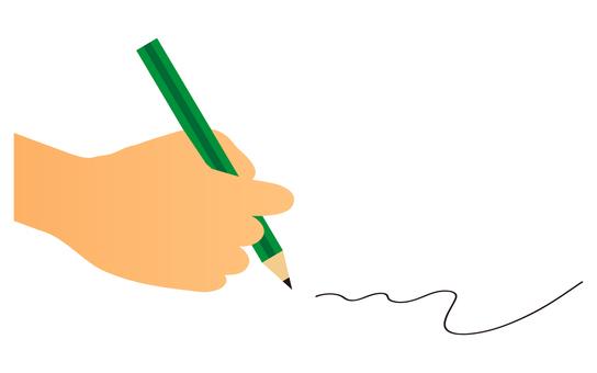 鉛筆で書く