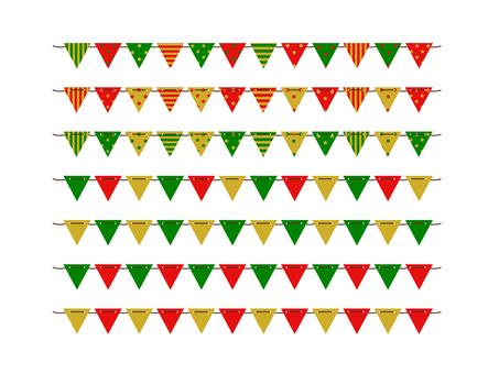 Triangle Flag Garland (Christmas) 2