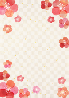 Plum _ Pastel _ Lattice _ Washi _ Longitudinal background