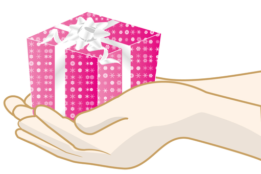 A gift in hand