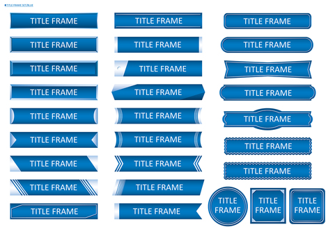 Title frame set 02 (Blue)