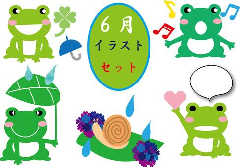 June illustration set