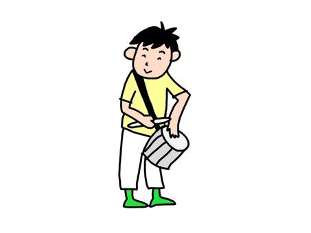 A boy hitting hepiniki