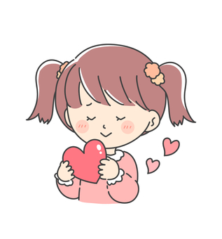Girl with a heart (twin tail)