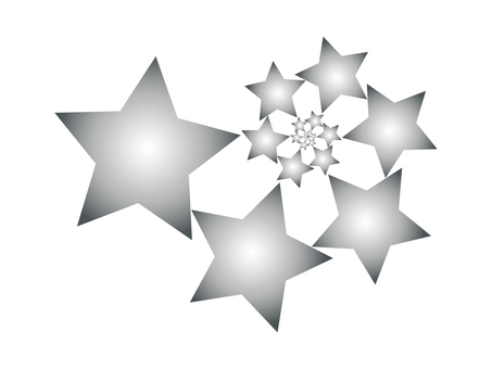 Silver star swirl illustration