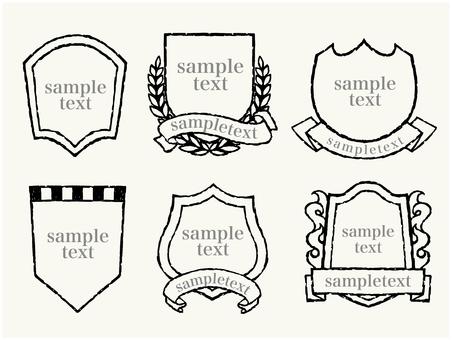 Handwritten emblem set