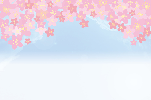 Blue sky and cherry blossoms 04
