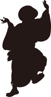 Ukiyoe silhouette 59