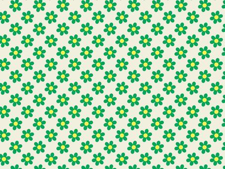 귀여운 꽃 패턴 벽지 소재